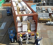 Shipping of Ytong panels in Asia